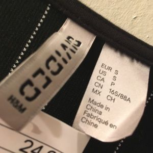 H&M Dresses - Tight black&white dress.